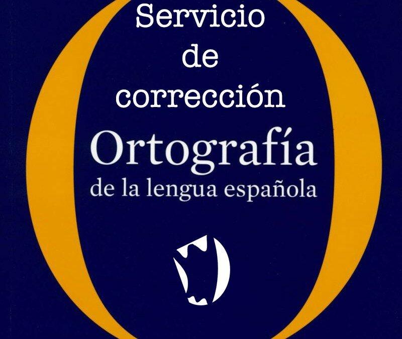 Corrección ortotipográfica, nuevo servicio