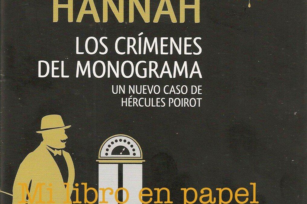 Los crímenes del monograma, de Sophie Hannah